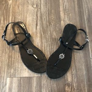 coach black pansy sandals 11